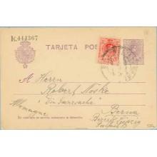 1923. Medallón.15 c. + 10 c. rojo. (Ed.269). Melilla a Berna (Laiz 50Fe) 42€