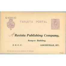 "1910. Medallón.15 c. violeta. Sobreimpresión privada, en anverso y reverso ""Revista Publishing Company. Kenyon Building. Lousvil"