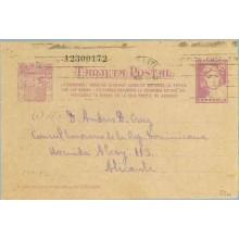 1938. Matrona. 25 c. lila. Ciudadanos...Siete cifras. Alicante. Mat. Alicante (Laiz 80n) 60€