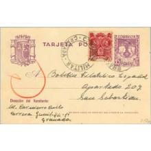 1938. 15 c. violeta + Sellos locales o beneficos (Laiz 81FLa) 70€