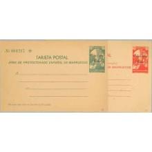 """1933. 15 c. verde y 25 c. rojo. Sobreimpresión """"Muestra"""", en rojo y negra (Laiz 1M/2M) 800€"""