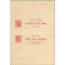 1882. Alfonso XII. 2 c. + 2 c. carmín (Laiz 13) 30€