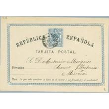 1874. 5 c. azul y negro (Laiz 3) 14€