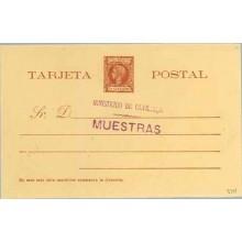 1898. Pelón. 3 c. castaño. Marca MINISTERIO DE ULTRAMAR, MUESTRAS, en violeta (Laiz 34M) 155€
