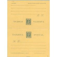 1898. Infante. 1 c. + 1 c. verde (Laiz 36) 38€