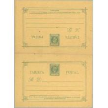 1898. Infante. 1 c. + 1 c. verde (Laiz 17) 45€