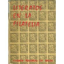 """COLECCIÓN """"LA CORNETA"""" Nº. 9 LITERATOS EN LA FILATELIA. Dedicado por la autora a una amiga (lomo deteriorado), por Carmen Perarn"""