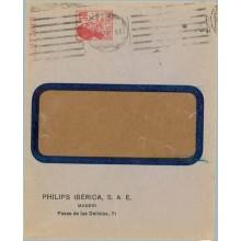 PHILPS IBÉRICA S.A.E./ MADRID/ Paseo de las Delicias, 71. Sobre 30 c. rojo. Matrona. Raro (Laiz 1248) 350€