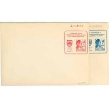 1933. REUNIÓN DE LA PRENSA FILATÉLICA. Dos sobres de 30 c. rojo y 40 c. azul (Laiz 1262-) 160€