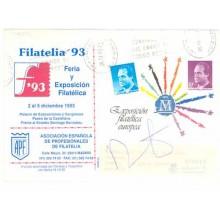 1993. SOBRES CONMEMORATIVOS ANUNCIADORES. Tres sobres circulados, dos con franqueo complementario (Laiz 17A) 70€
