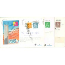 1986. SOBRES CONMEMORATIVOS.Tres sobres circulados, dos con franqueo complementario (Laiz 6-19-21) 20€