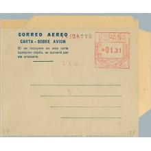 1947. 1,30 p. (II) fondo gris claro. Error de valor, 1,31 p. en lugar de 1,30 p. (Laiz 2E) 100€