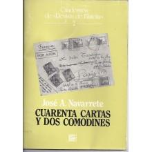 CUARENTA CARTAS Y DOS COMODINES. José Navarrete,. Cuadernos de Revista de Filatelia. 2