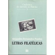 LETRAS FILATÉLICAS. Alendro Fernández Pombo. Cuadernos de Revista de Filatelia. 3
