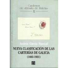 NUEVA CLASIFICACIÓN DE LAS CARTERÍAS DE GALICIA 1883-1931. Andrés García Pascual. Cuadernos de Filatelia 12