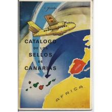 1968. CATÁLOGO DE LOS SELLOS para el correo aereo emitidos en las islas canarias 1936-1938. E. Aurioles