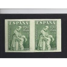 1946. Fray Bartolomé de las casa. pareja sin dentar. firma cem. ed. 1004s. 88 €