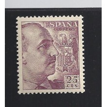 1949. Franco. 25 c. lila oscuro. raro. Ed. **1048A. 80€