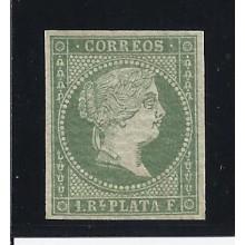 CUBA. 1855. 1 REAL VERDE. * ED. 2 ANTILLAS. 65 €