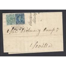 1877. Alfonso XII. 10 c. azul y 5 c. verde Impuesto de Guerra Ed. 175-183 €