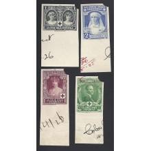 1926. Alfonso XIII. Cruz Roja.Correo. Ed. ** 325MTas/338MTas. 650 €
