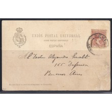 TOROS. 1899. Sevilla a Buenos Aires. Pelón 10 c. castaño amarillo. Suerte de Vara.