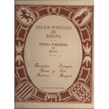 FALSOS POSTALES DE ESPAÑA. 1977. Juego de 285 fichas. Francisco Graus. Usado. Conservación regular.