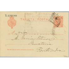 1905. Cadete 10 c. rojo. La tercera línea de la dirección desplazada a la izquierda y comienza a la altura de la segunda. Cerded