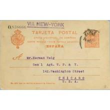 1912. Medallón.10 c. rojo. Barcelona a Chicago. Mat. Barna. (Laiz 53) 36€