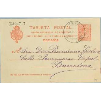 1924. Medallón.10 c. rojo.Teyá a Barcelona. Mat. Teyá (Laiz 53) 3€