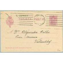 1931. Vaquer. 15 c. lila, numeración tipo III. Madrid a Valladolid. Mat. Madrid (Laiz 57na) 8€