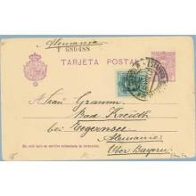1928. Vaquer.15 c. + 10 c. verde. Vaquer (Ed.314) Madrid a Alemania. Mat. Madrid (Laiz 57naFe) 35€
